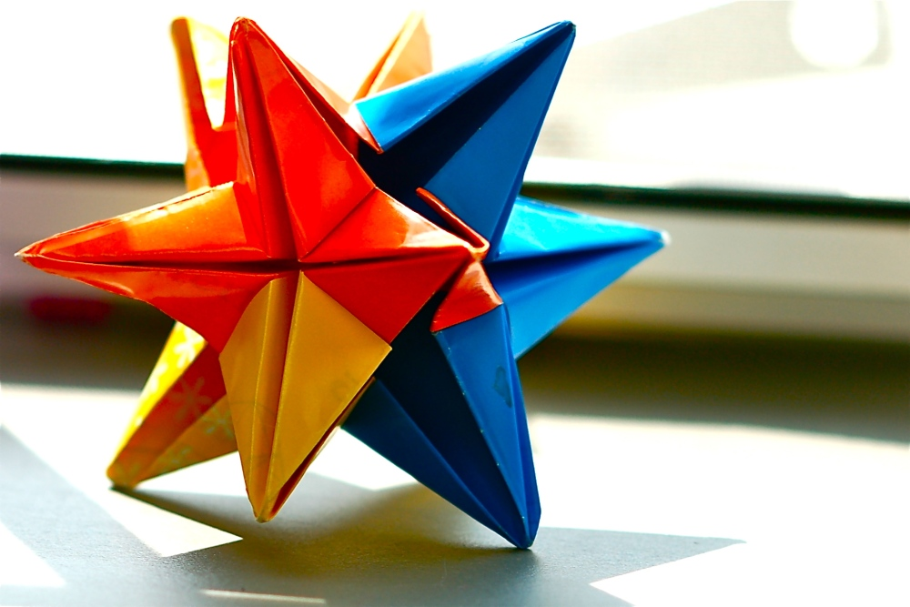 Colorful star on the shelf