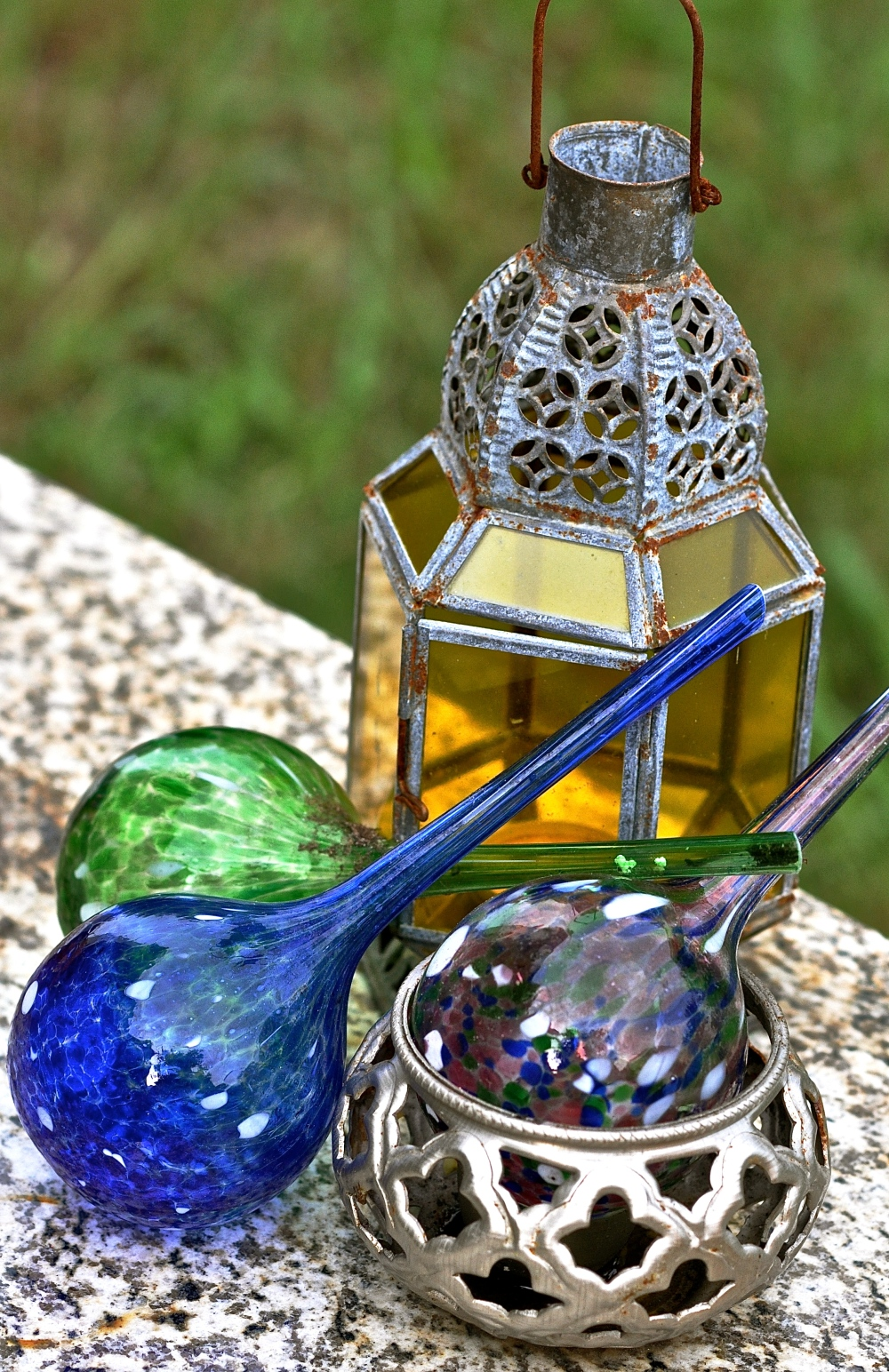 stained glass watering bulbs