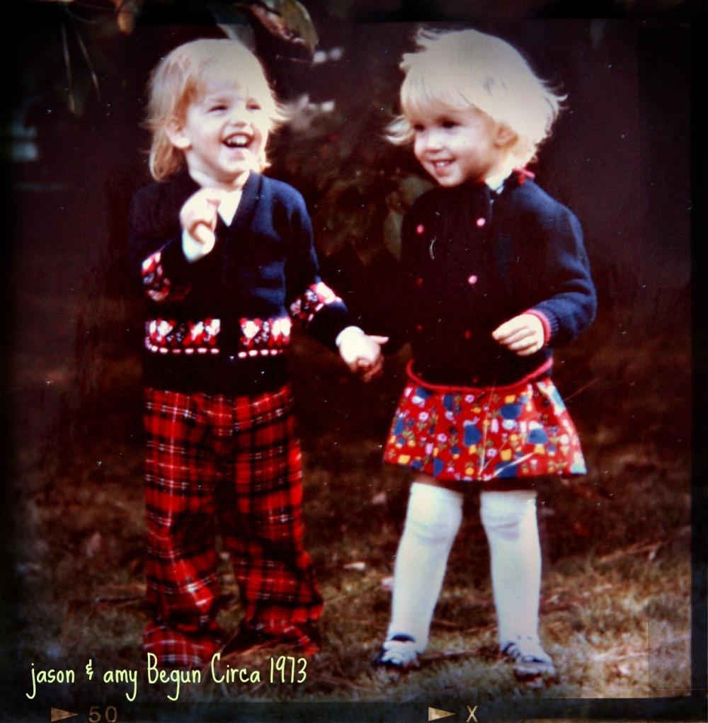 The twins circa 1973