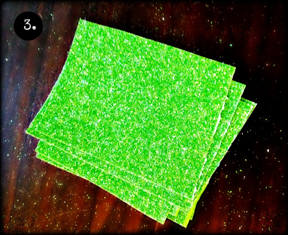 cut the strips into squares or rectangles.