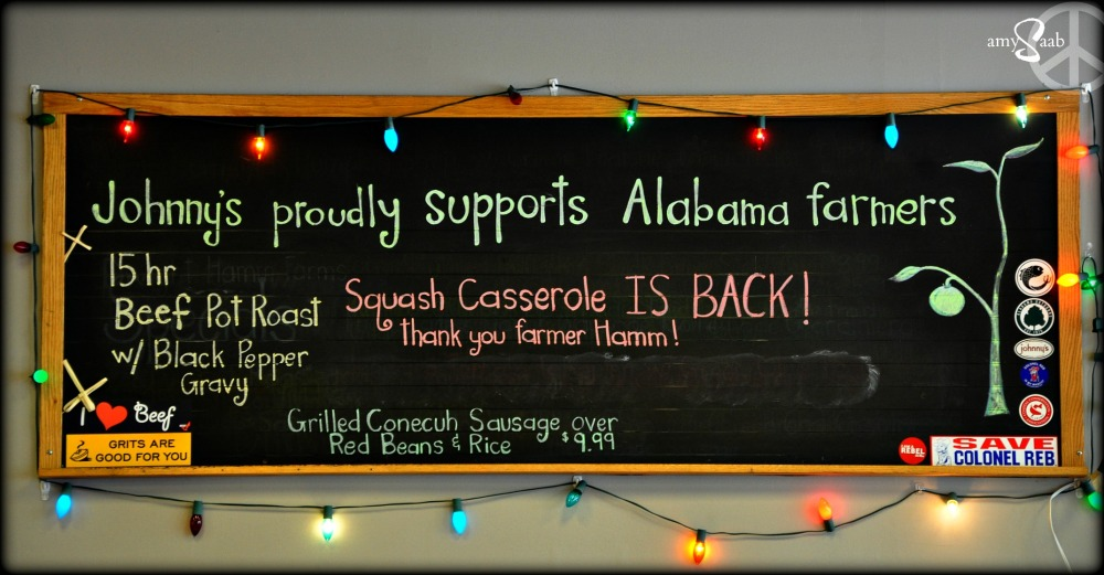 I love that Johnny's supports Alabama Farmers.