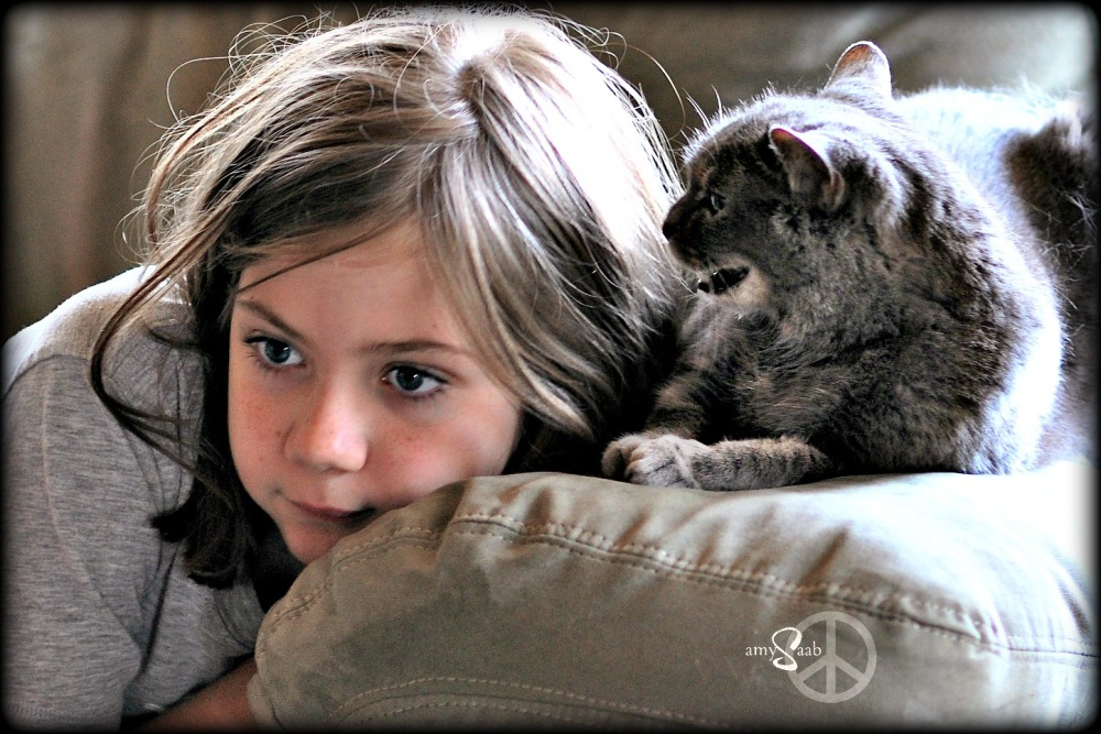 Sophie & a very angry kitty