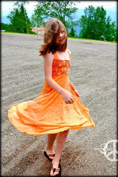 Sophie's new dress