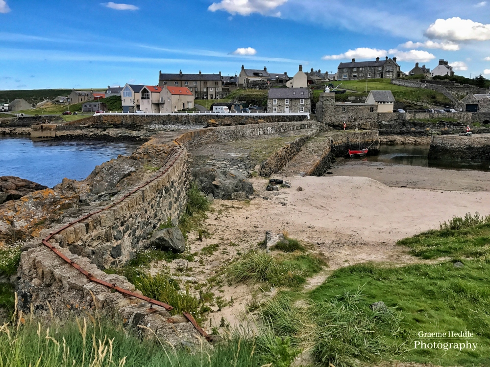17th century harbour wall, Portsoy, Moray