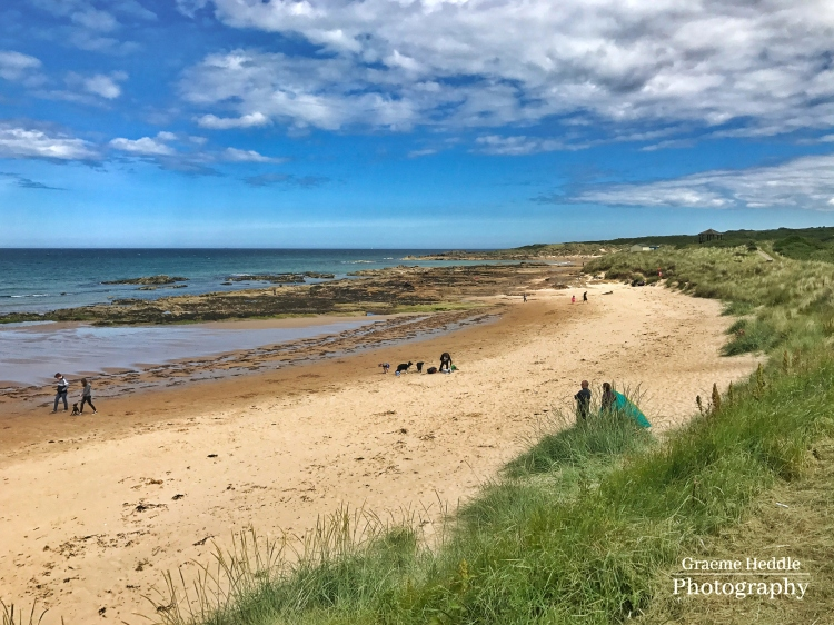A beach in Moray