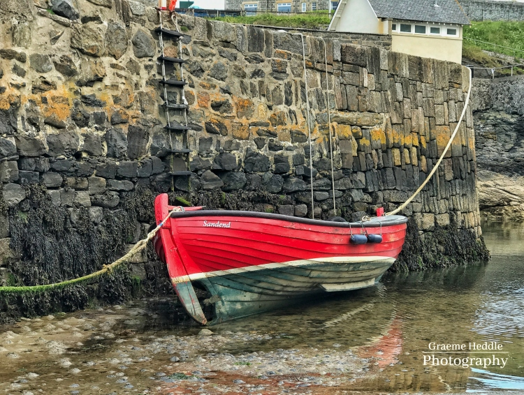 Boat at Portsoy harbour, Moray
