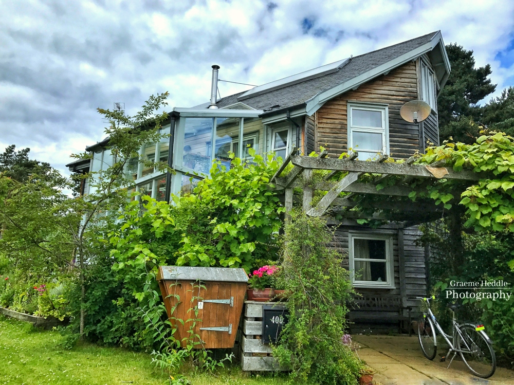 Eco house at the Findhorn Foundation, Highlands