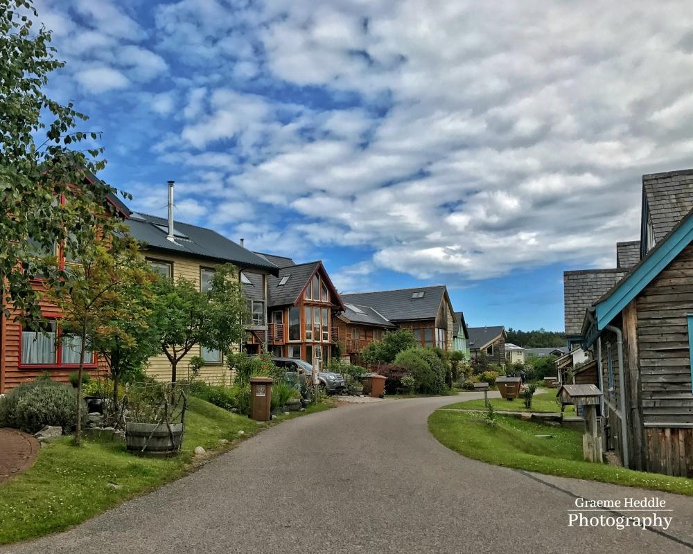 Eco houses at the Findhorn Foundation, Highlands 2