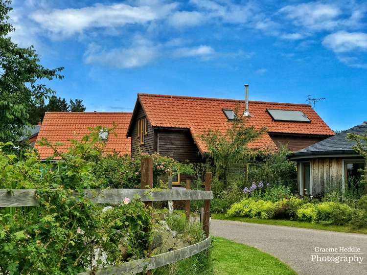 Eco houses at the Findhorn Foundation, Highlands