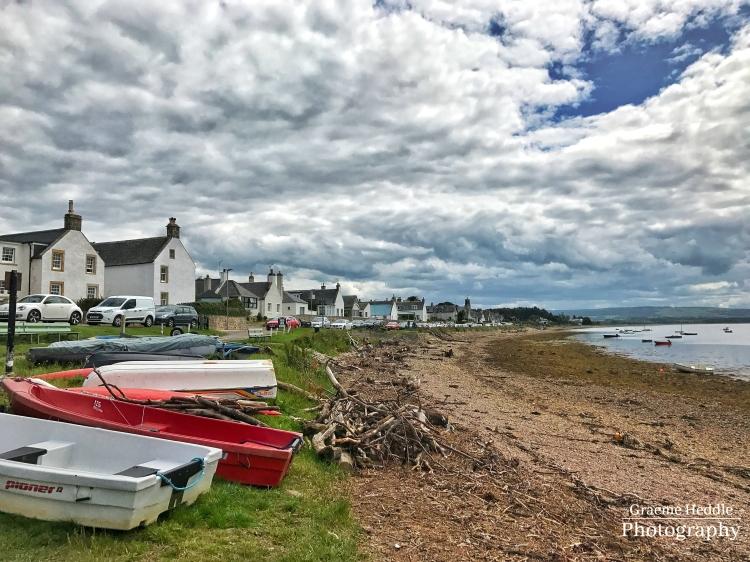 Findhorn Village shore, Highlands