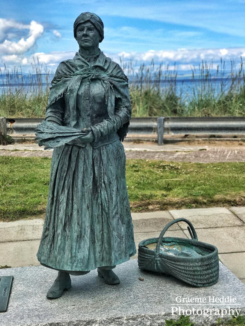 Fishwife sculpture - Nairn Harbour, Highlands
