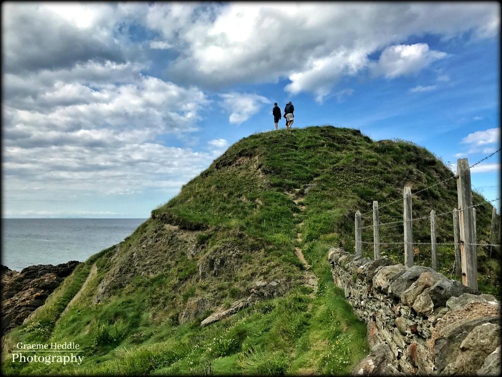 Hill at the shore, Portsoy, Moray