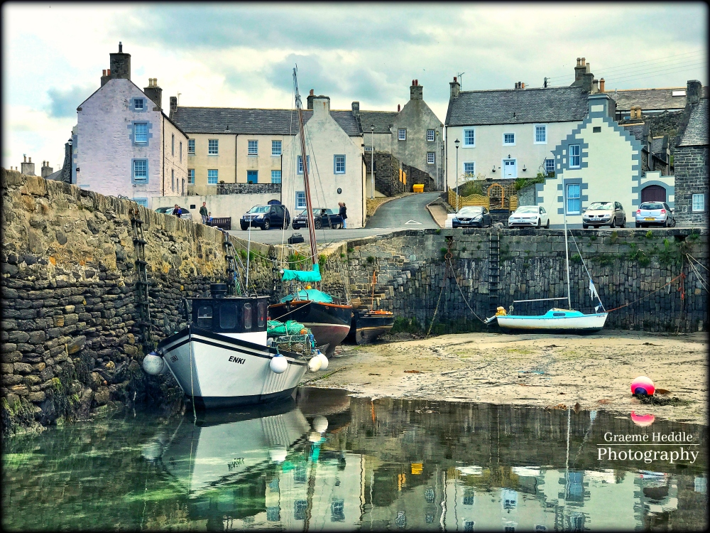 Historic harbour at Portsoy, Moray