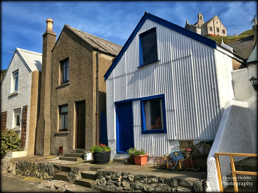 Tin fisherman's house at Gardenstown, Moray